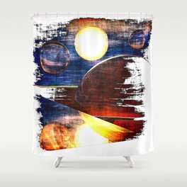 Various Encounters Shower Curtain