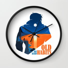 Old Habits Wall Clock