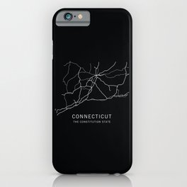 Connecticut State Road Map iPhone Case