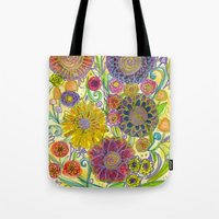 boho Tote Bags featuring Boho by Sand Salt Moon