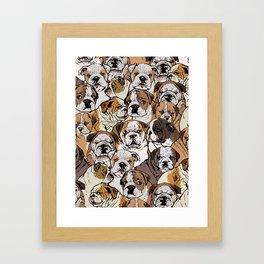 Social English Bulldog Framed Art Print