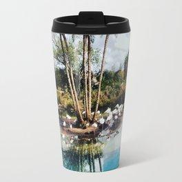 Flamingo Lagoon Travel Mug