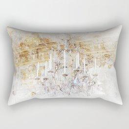 Palace Chandelier Gold Rectangular Pillow