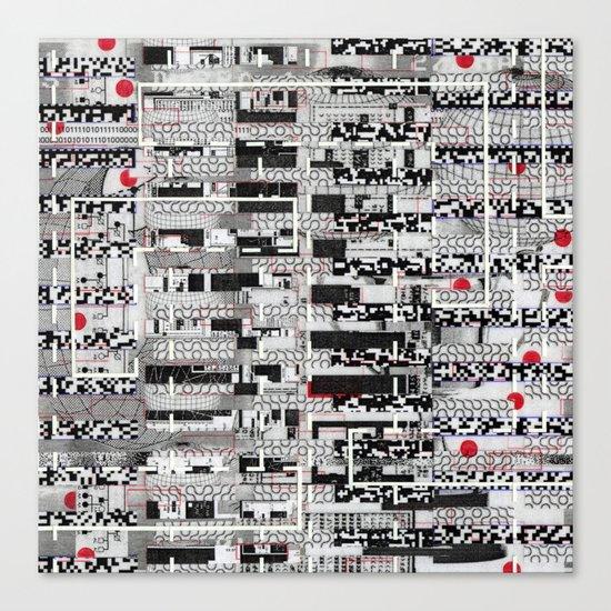 Opportunistic Species (P/D3 Glitch Collage Studies) Canvas Print