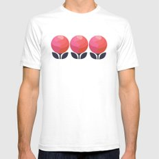 Peony Perfection White SMALL Mens Fitted Tee