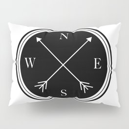 Directions \\ Abstract Compass Design Pillow Sham
