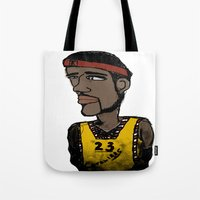 basketball Tote Bags featuring Basketball  by JBLITTLEMONSTERS