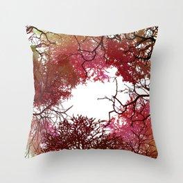 Autumn Treetop Throw Pillow