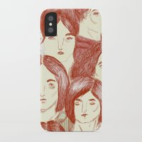 girls iPhone & iPod Cases featuring Girls by Katty Huertas