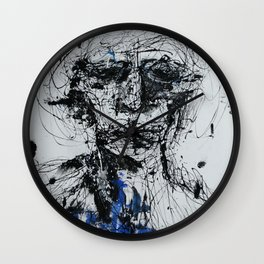 blue man Wall Clock