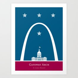 America: St. Louis Arch Art Print