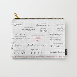 High-Math Inspiration 01 - Red & Black Carry-All Pouch