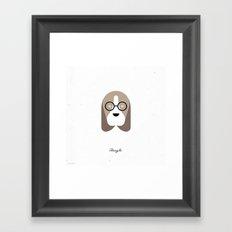 Pedigree: Beagle Framed Art Print