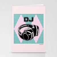 dj Stationery Cards featuring DJ by Şemsa Bilge (Semsa Fashion)