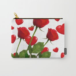 RED  ROSES & VALENTINES HEARTS  DESIGN Carry-All Pouch