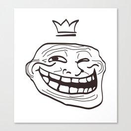 vector cartoon face. Isolated eps 10  Canvas Print