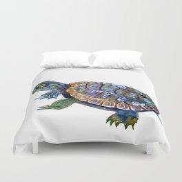 Slider Baby Turtle artwork Duvet Cover