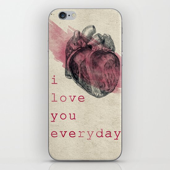 i_love_you_everyday iPhone & iPod Skin