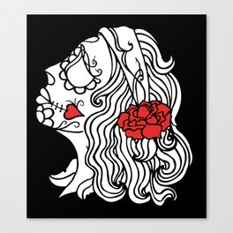 day of the dead white Canvas Print