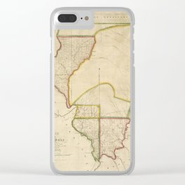 Map of Illinois 1818 Clear iPhone Case