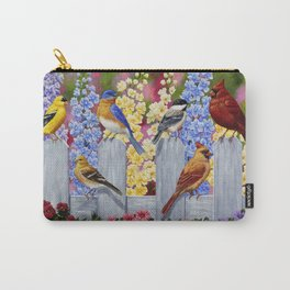 Spring Garden Party Birds and Flowers Carry-All Pouch