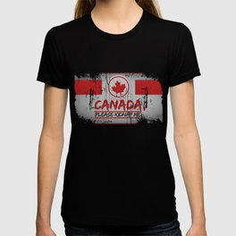 Canada Please Kidnap Me Canadian Maple Leaf  T-shirt