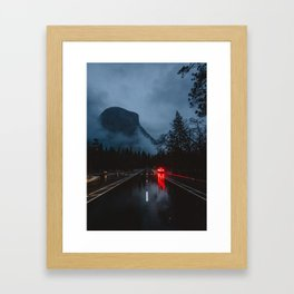 Moody Yosemite Valley Framed Art Print