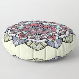 Flowers mandala #38 Floor Pillow