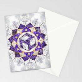 Antahkarana in Lotus Mandala- Amethyst and Pearl Stationery Cards