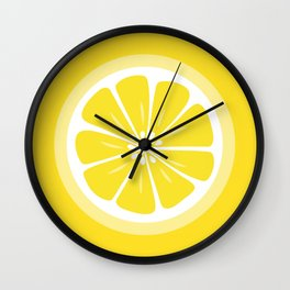 Lemon Fruit Slice Summer Fun Wall Clock