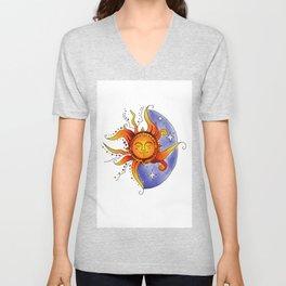 Euphoric Sun in Color Unisex V-Neck
