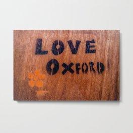 Love in Oxford, Oxford, England, UK Metal Print