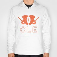 cleveland Hoodies featuring Cleveland Football by John Trivelli