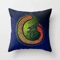 irish Throw Pillows featuring Irish Twist by Alan Hogan