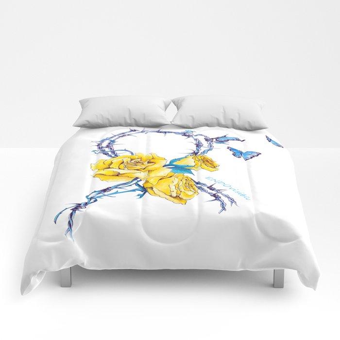 Ribbon   Endometriosis awareness Comforters