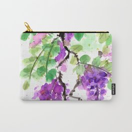 Purple Lilac Watercolor Carry-All Pouch