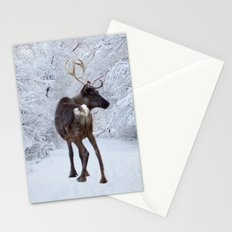 Reindeer and Snow Stationery Cards