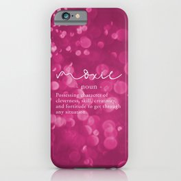 Moxie Definition - Pink Bokeh iPhone Case