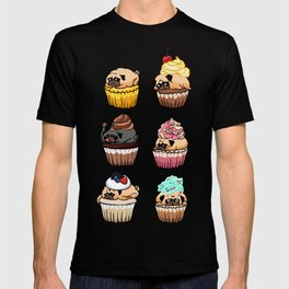Cupcake Pugs T-shirt