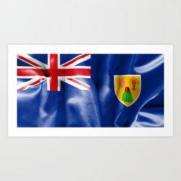 Turks and Caicos Islands Flag Art Print