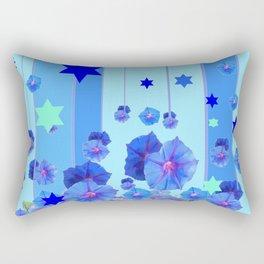 STARS & BLUE MORNING GLORIES RAIN POP ART Rectangular Pillow