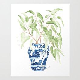 Ginger Jar + Eucalyptus Art Print
