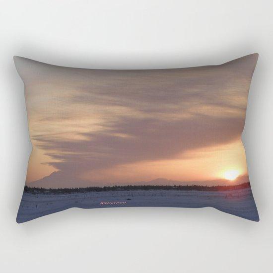 Mt. Redoubt Ashflow at Sunset #1 Rectangular Pillow