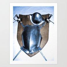 SHIELDS, HELMETS AND SWORDS Art Print