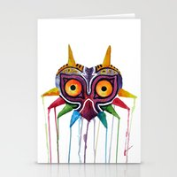 majoras mask Stationery Cards featuring majoras mask by Haily Melendez