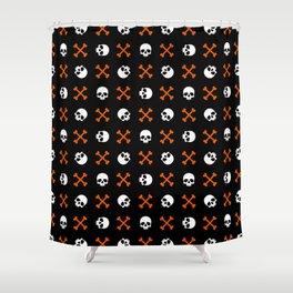 Skull Pattern | Bones Heavy Metal Cemetery Shower Curtain
