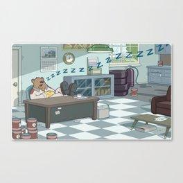 Snoozing Otto Canvas Print