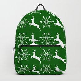 Reindeer and snowflake christmas pattern Backpack