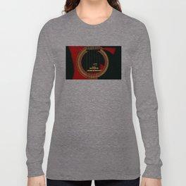 Guitar Sound Hole Long Sleeve T-shirt