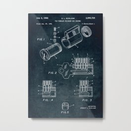 1961 - Pin tumbler cylinder key system Metal Print